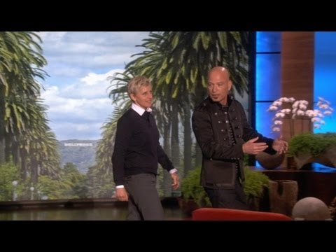 Howie - Ellen did a walk-and-talk with her friend, Howie Mandel, who had a goal to reach.
