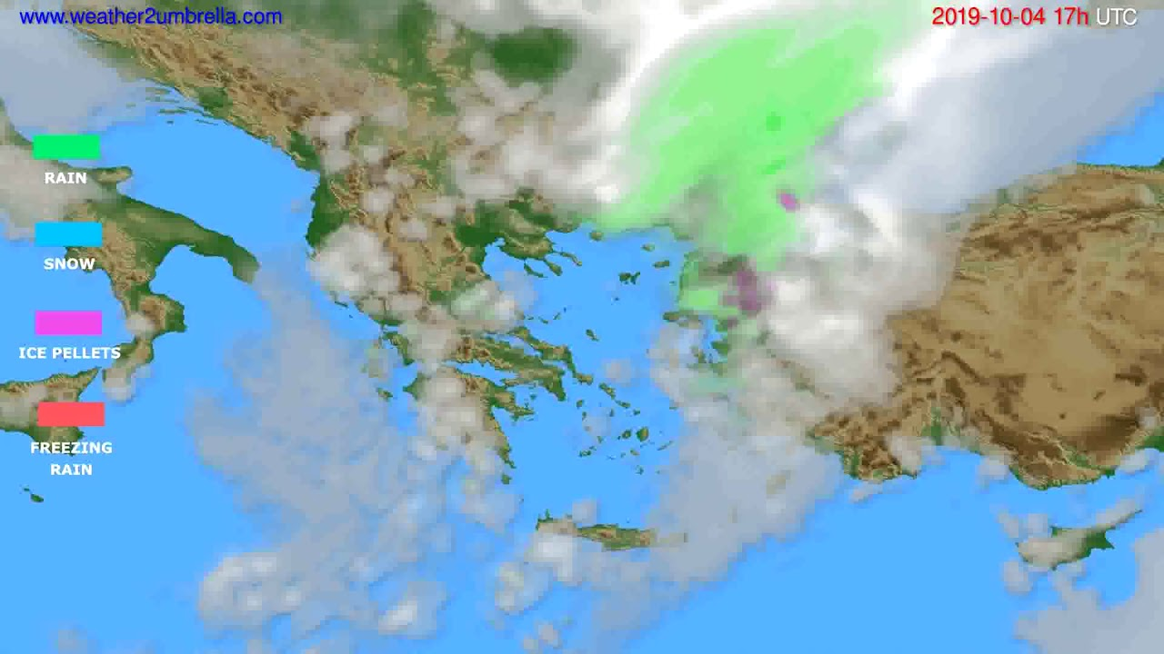Precipitation forecast Greece // modelrun: 00h UTC 2019-10-03