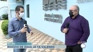 Presidente do DAE, Marcos Saraiva, fala como será funcionamento de rodízio