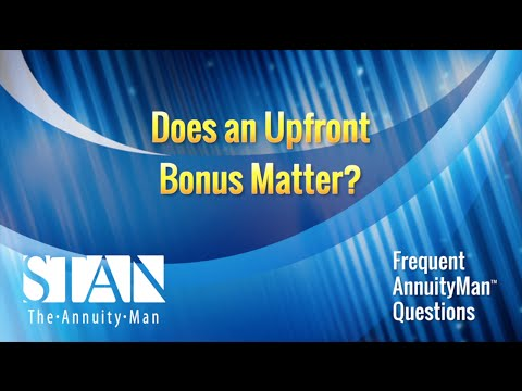 Does an UpFront Bonus Matter?