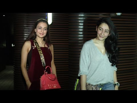 Ameesha Patel & Manyta Dutt Visit Estella Lounge For Dinner