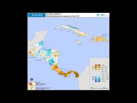 WFP VAM - Seasonal Monitor: Central America | Cumulative Rainfall (% of Average)