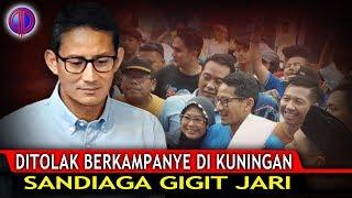 Ditol4k Berkampanye di Kuningan, Sandi G!git Jari