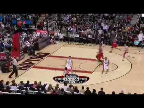 Rudy Fernandez vs. Raptors 02-24-2010
