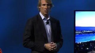 Michael Bay quits Samsung's press conference - YouTube