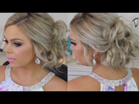 Formal Hair Messy Side Bun Tutorial