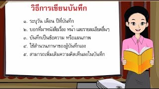 สื่อการเรียนการสอน การเขียนบันทึกการอ่านนิทานพื้นบ้าน ป.5 ภาษาไทย