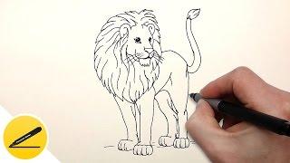 Видео: как нарисовать льва поэтапно