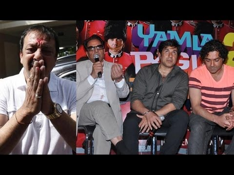 dharmendra - Dharmendra, Sunny Deol and Bobby Deol talk about the recent Supreme Court judgement on Sanjay Dutt. Dharmendra said that he felt that Dutt will come out soon...