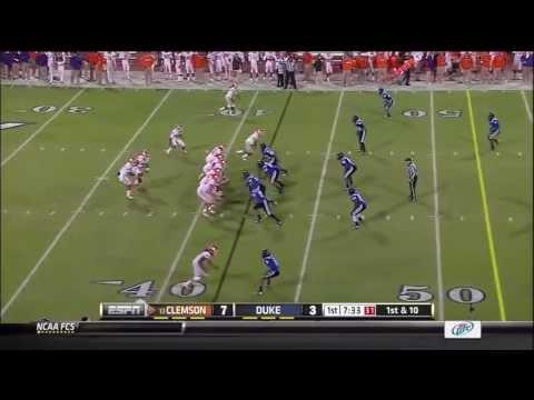 Tajh Boyd vs Duke 2012 video.