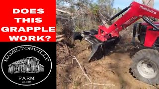 10. Clearing land with Mahindra tractor (4540 4wd)