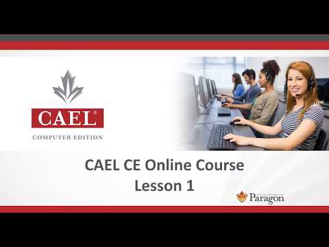 CAEL CE Online Course - Lesson 1 (Speaking)