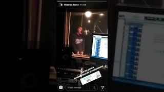 Grabando en el estudio space music/lizos music/yoshi