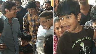 Akkineni Nagarjuna Making Fun With Allu Arjun Son Allu Ayaan