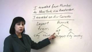 Talking about travel, Speaking English