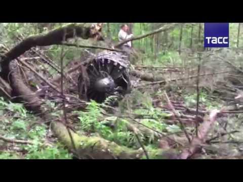 ПЕРВОЕ ВИДЕО с места крушения Су-27 в Подмосковье (видео)