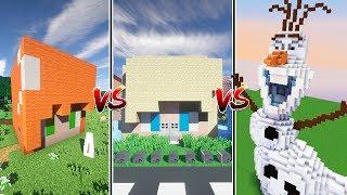 Hoy en minecraft os traigo un nuevo casa vs casa vs casa esta vez con los personajes de frozen en minecraft. Tenemos la casa de olaf vs casa de elsa vs casa de anna y quien ganará?? Vota en los comentarios y danos sugerencias para mas videos :DNuestro libro: http://bit.ly/CompraQSTPFTambién aquí (envian a todo el mundo): http://bit.ly/QSTPFCLibroCanal de Carlos: https://www.youtube.com/carloscastleytCanal de Artic: https://www.youtube.com/artickraftCanal de Vlogs: https://www.youtube.com/itsRoviCanal de byMel: http://youtube.com/conmdemel- Twitter: http://twitter.com/byRovi23http://twitter.com/inpinkMel- Instagram: http://instagram.com/rovimel23Contacto: rovitv@gmail.comGemas en Clash Royale y Clash of Clans gratis: http://bit.ly/gemasroviCanción final:K-391 - Dream Of Something Sweet ft. Cory Friesenhan