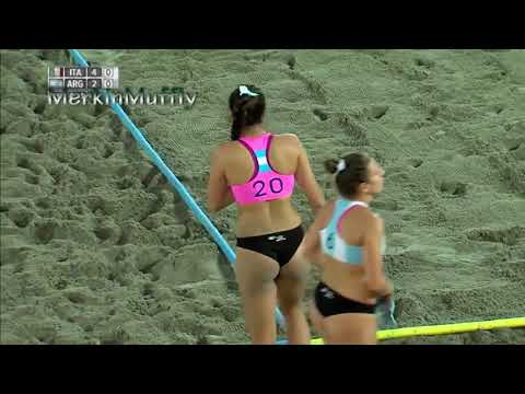 Argentina Beach Handball Girls - Getting All Wet - Beauty Girl