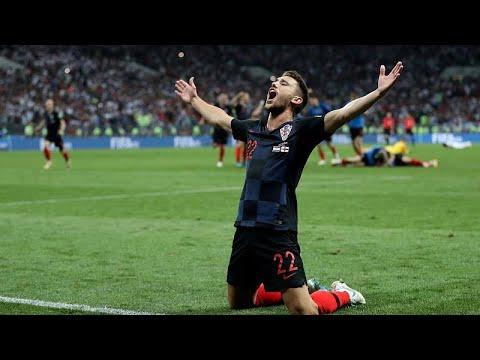 Fußball-WM 2018 Halbfinale: Kroatien zieht nach 2:1-Sie ...