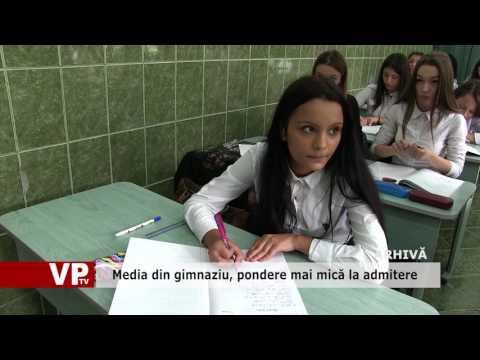 Media din gimnaziu, pondere mai mică la admitere
