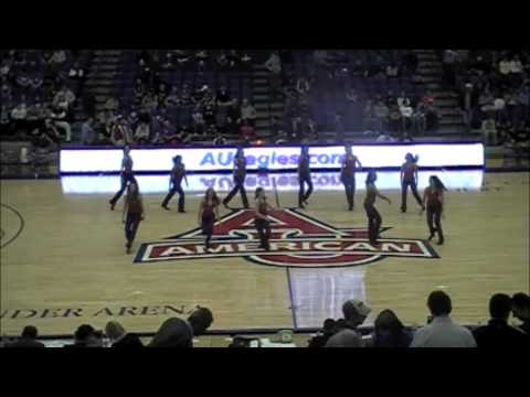 American University Dance Team American Woman Halftime Feb 23 2013