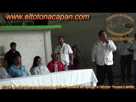 El Dip Javier Herrera Borunda visita Yecuatla en apoyo a Héctor Yunes Landa