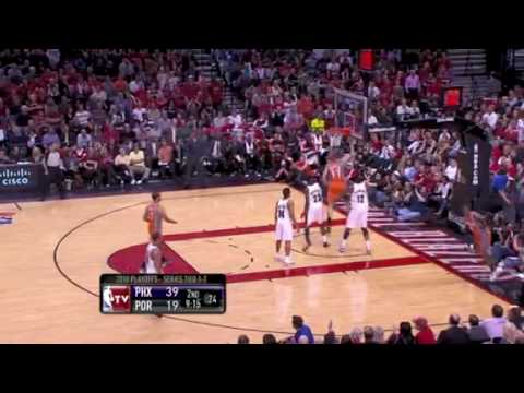 Leandro Barbosa behind the back steal vs. Trail Blazers- 2010 Playoffs
