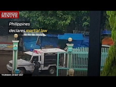 President Rodrigo Duterte declared martial law on the island of Mindanao