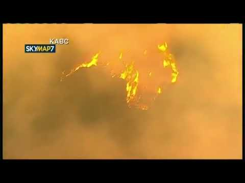 Wildfire raging near Getty Center in Los Angeles and moving toward UCLA  12 6 17
