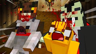 MONSTERS On HAUNTED HILL - MINECRAFT BABY WOLF ADVENTURES [13]