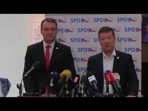 Tomio Okamura /SPD/ aktuálně 27. - 28.3.2018