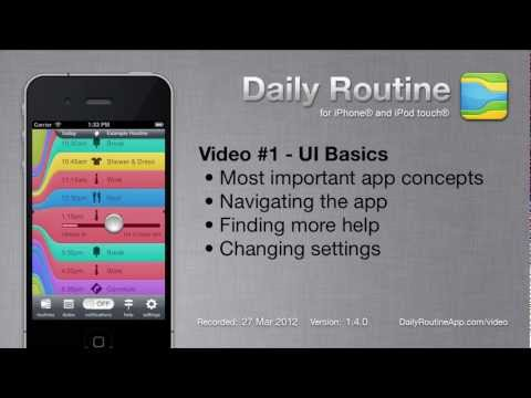 daily app - Screencast showing the main features of the Daily Routine app for iPhone.