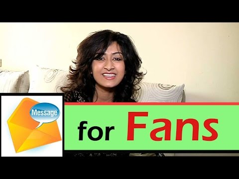 Farnaaz Shetty's message for her fans