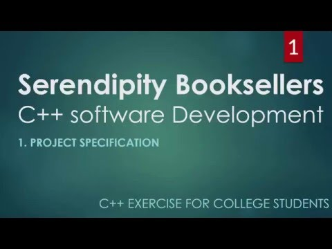 C++ Serendipity Booksellers College Project Part 1 – Program Specifications