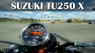 9. Suzuki TU250X Acceleration and Refueling Stop