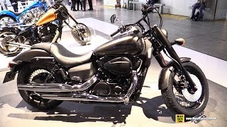 2. 2015 Honda Shadow Black Spirit 750 - Walkaround - 2014 EICMA Milano Motocycle Exhibition