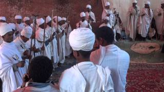 Religious Cerimony At Bet Maryam Church, Lalibela Ethiopia 2