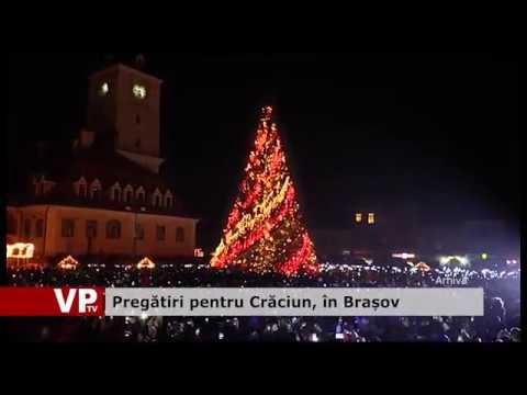 Pregătiri pentru Crăciun, în Brașov