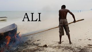 Diani Beach Kenya  City new picture : Kenia - Diani Beach - A fisherman repairs his boat. It's his everything.