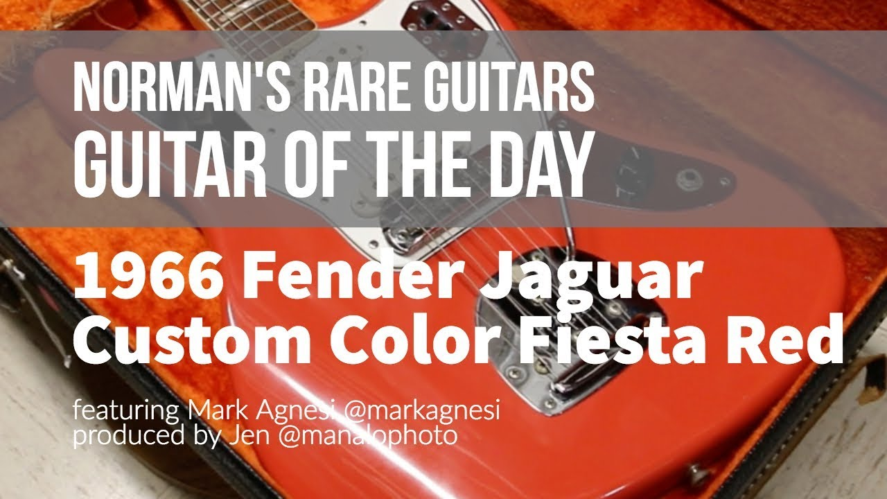 Guitar of the Day: 1966 Fender Jaguar Fiesta Red | Norman's Rare Guitars