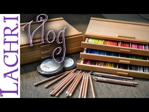 Artist Vlog - New colored pencil storage boxes  - Lachri