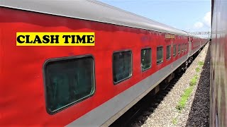Kumta India  city photos : WDP3A Longest Rajdhani Longest Duronto Clash Kumta