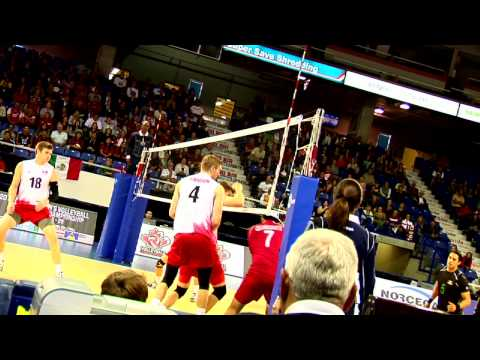 2013 NORCECA Men's Volleyball Semi Final: Canada vs Cuba Intro