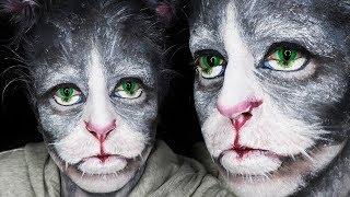 CAT MAKEUP / MAQUILLAJE GATO - TUTORIAL - The Faceless Queen