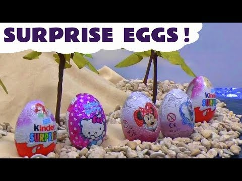 surprise - Disney Princess Ariel, Little Mermaid, Mermaid Barbie and another Mermaid collect Surprise Eggs pushed into the sea by Tick-Tock the crocodile from Peter Pan. The eggs are 1 Kinder Barbie Surprise...
