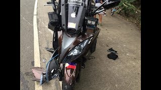 10. My first wreck,,Accident in the Philippines,,at 7 min time mark,  Xciting 400i, BIG P, Big P