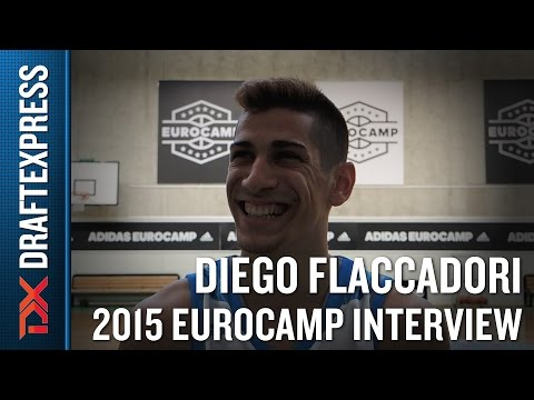Diego Flaccadori Interview at the 2015 adidas EuroCamp