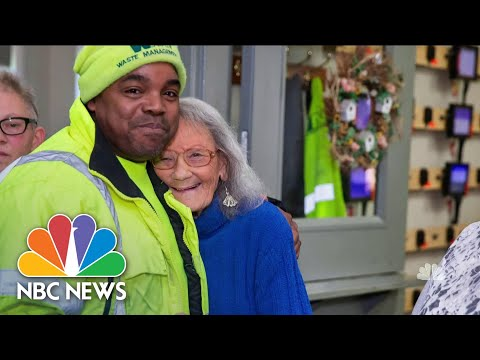 Meet The Everyday Heroes Behind Viral Good Deeds Caught On Camera | NBC Nightly News