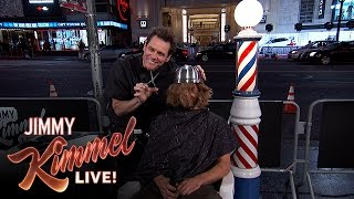 Video Jim Carrey Gives People Bowl Cuts on Hollywood Blvd. MP3, 3GP, MP4, WEBM, AVI, FLV Oktober 2018