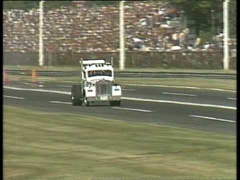 Blown hemi-powered 53 Kenworth wheelstand